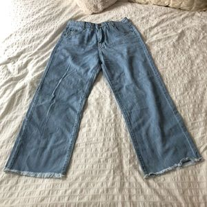 Denim - Wide Leg Cropped Jeans